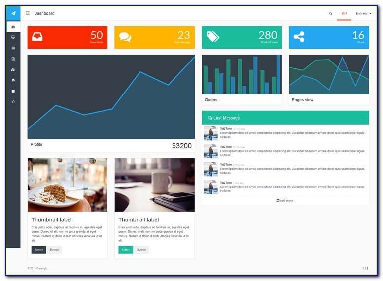 Website Dashboard Presentation Template Free Download