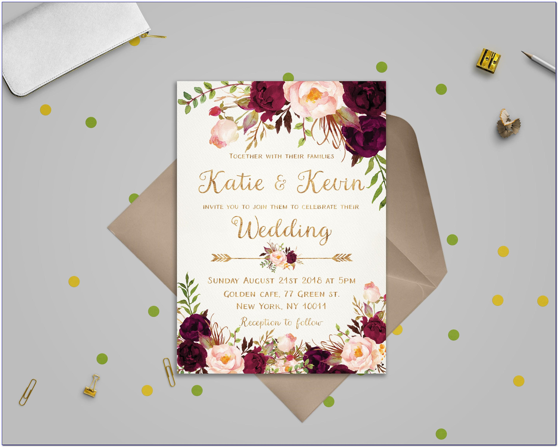 Wedding Invitation Templates Etsy