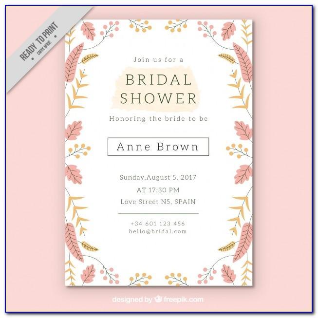 Wedding Shower Template Download