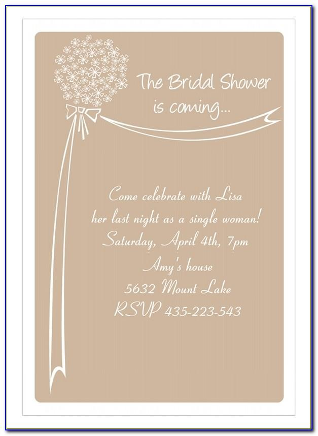 Wedding Shower Template Free Download