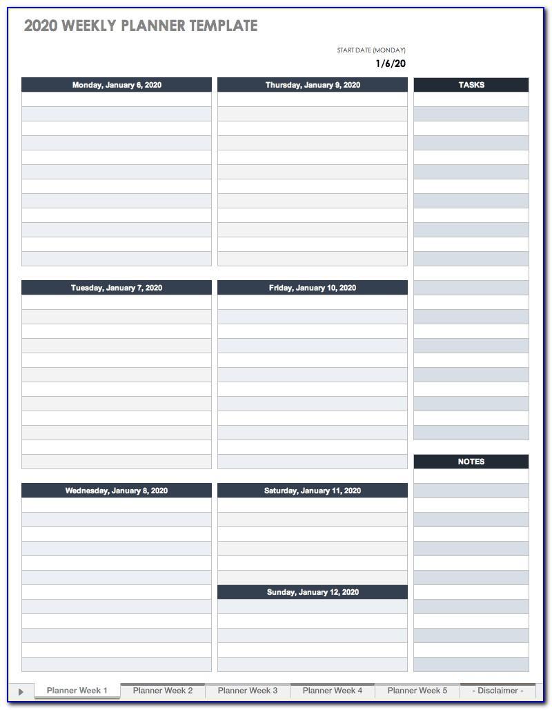 Weekly Appointment Calendar Template 2019 Excel