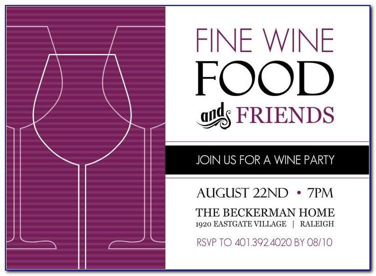 Wine Glass Invitation Templates Free Download