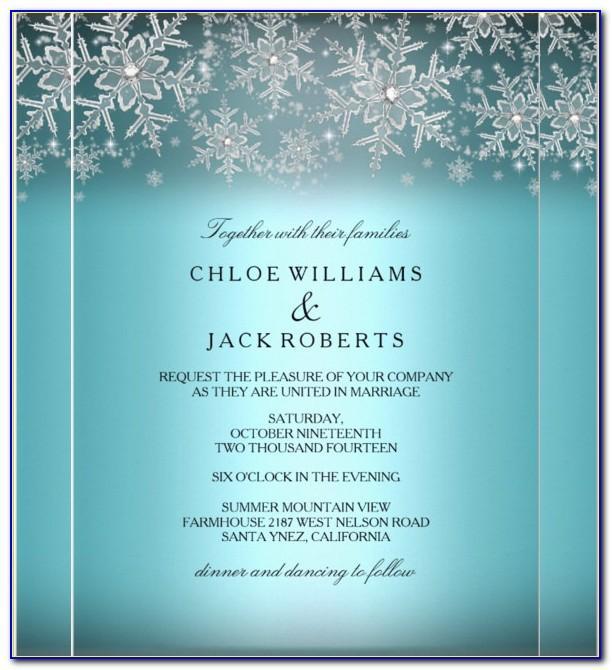 Winter Wedding Invitation Templates Free