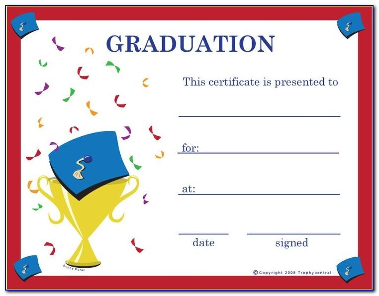 Wording For Graduation Certificates Templates
