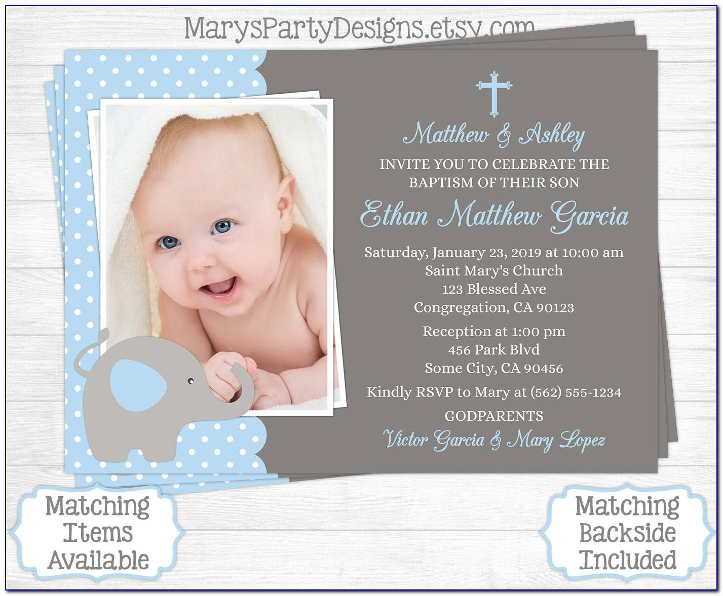 1st Birthday And Baptism Combined Invitation Templates