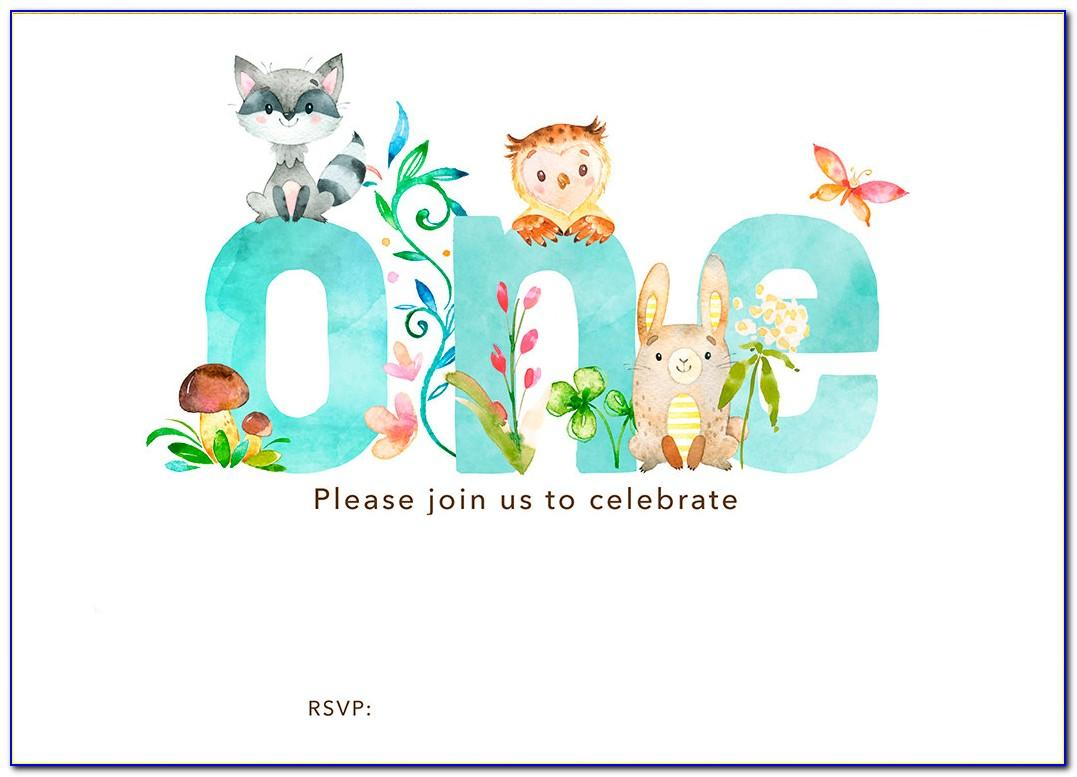 1st Birthday Invitation After Effects Template Free Download