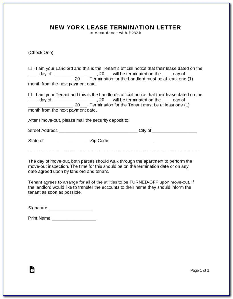30 Day Eviction Notice Form Nyc