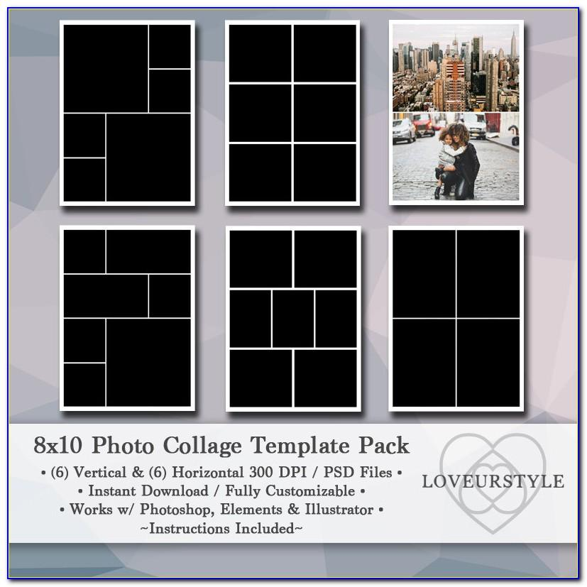 8x10 Photo Collage Template