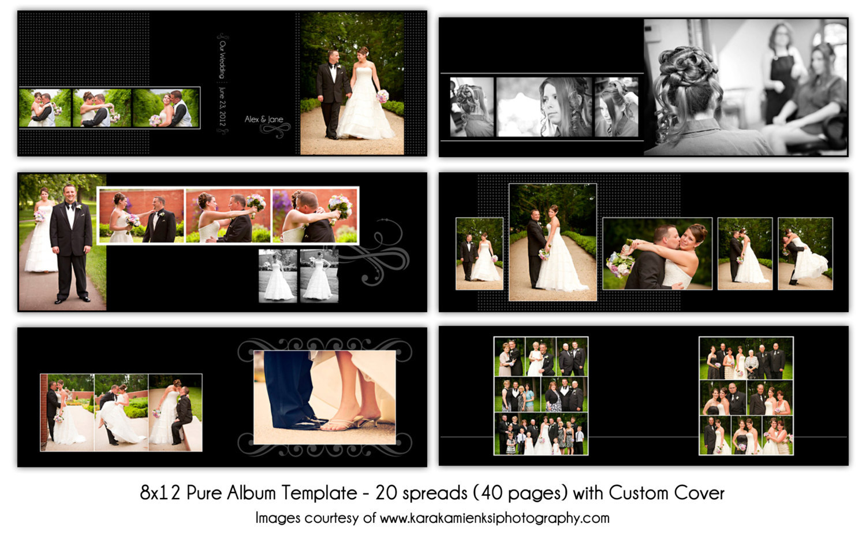 8x12 Wedding Album Templates