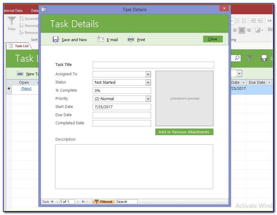 Access Membership Database Template Free