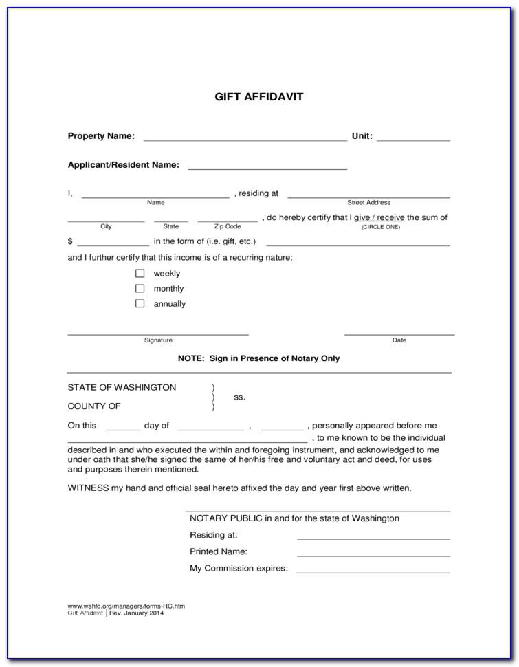Affidavit Example Texas