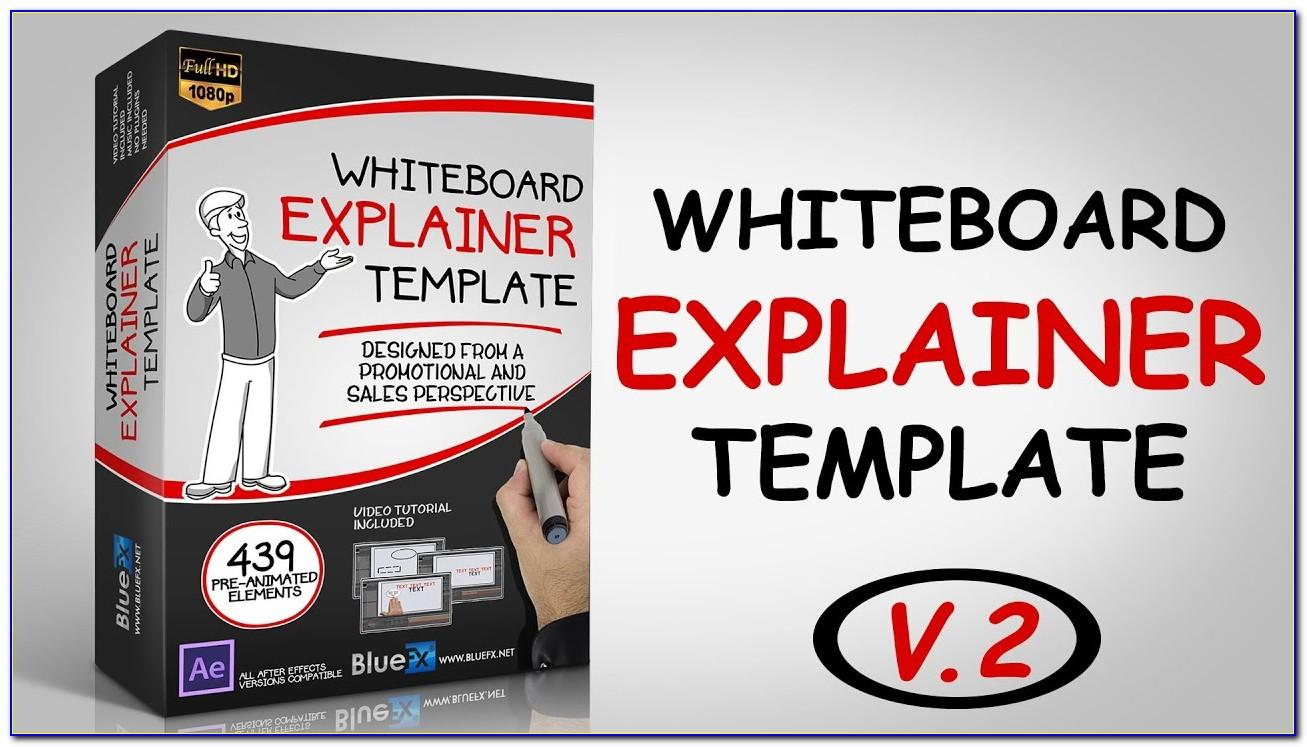After Effects Template Whiteboard Explainer