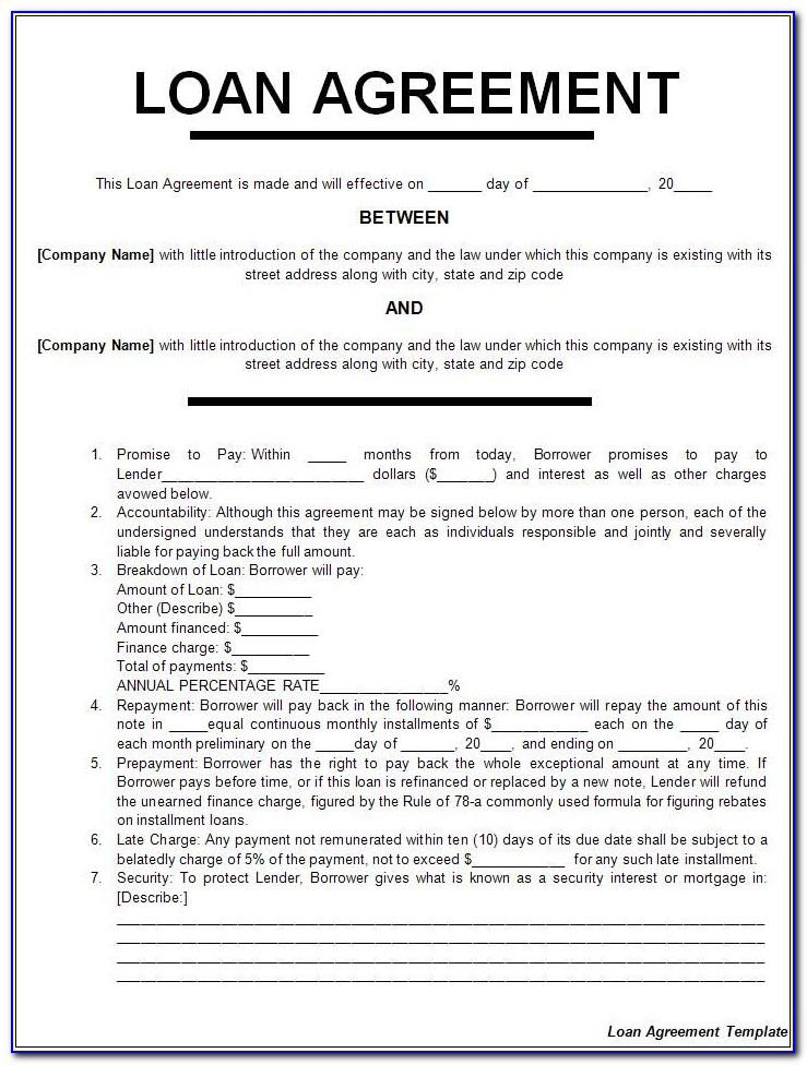 Auto Loan Contract Example