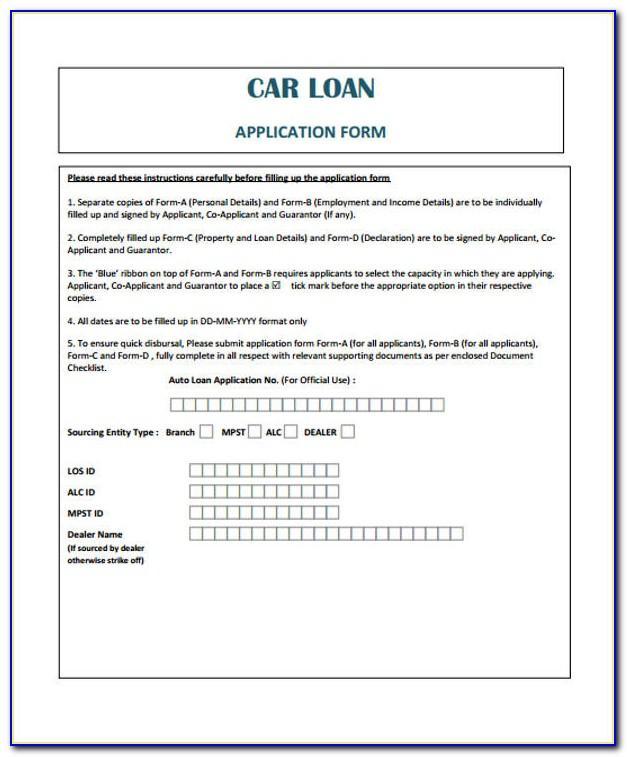 Auto Loan Document Template