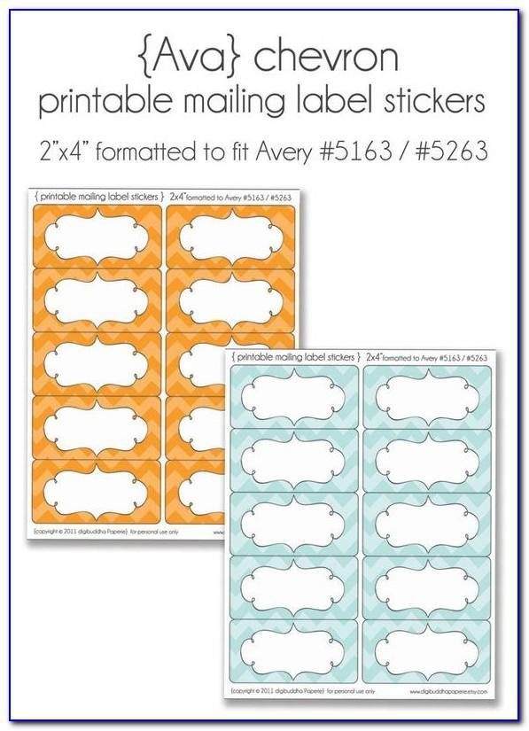Avery Mailing Label Template 2 X 4