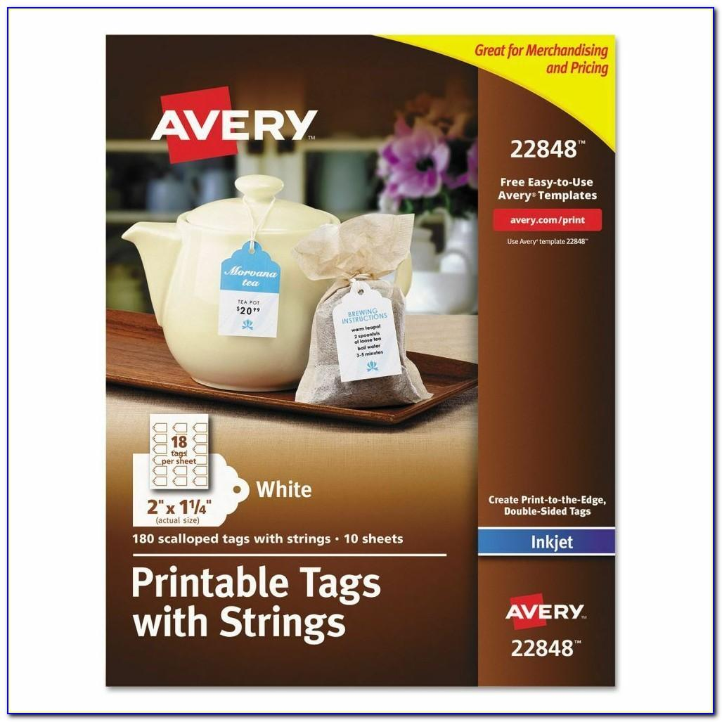 Avery Printable Tags With Strings Template