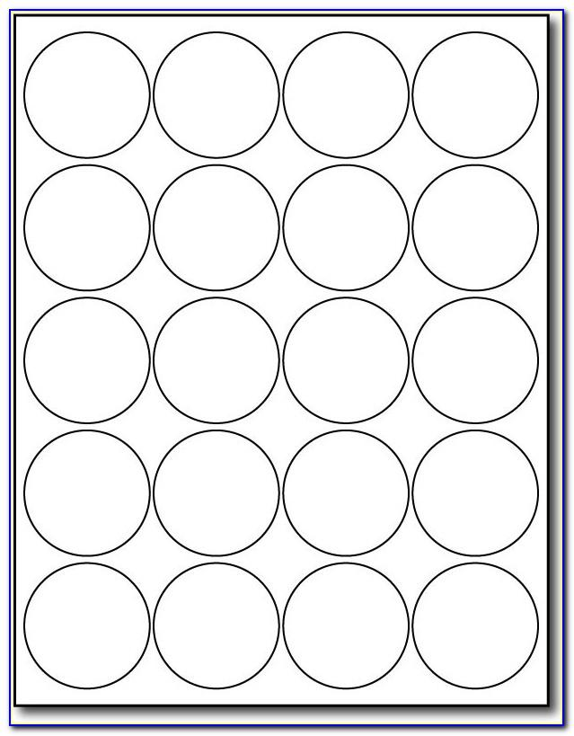 Avery Round Labels 2 Inch Template