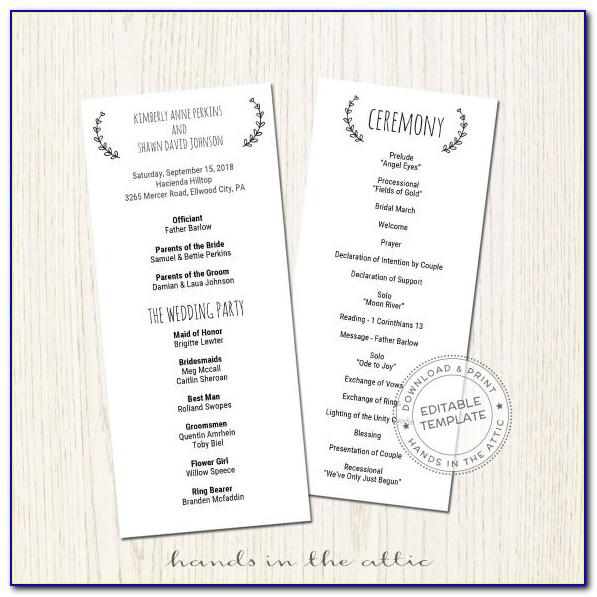 Award Ceremony Program Templates