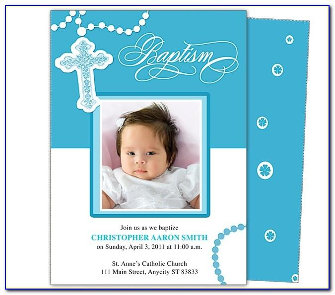 Baby Baptism Template