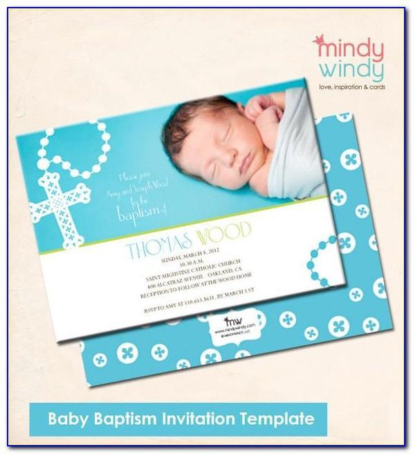 Baby Girl Baptism Card Template