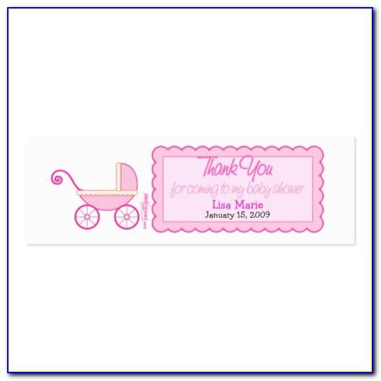 Baby Shower Favor Tag Template Printable