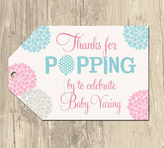 Baby Shower Favor Tag Templates Free