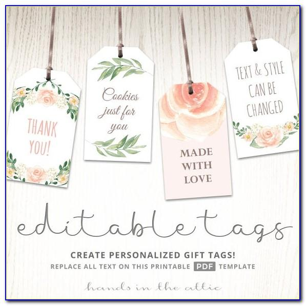 Baby Shower Favor Tags Template Free