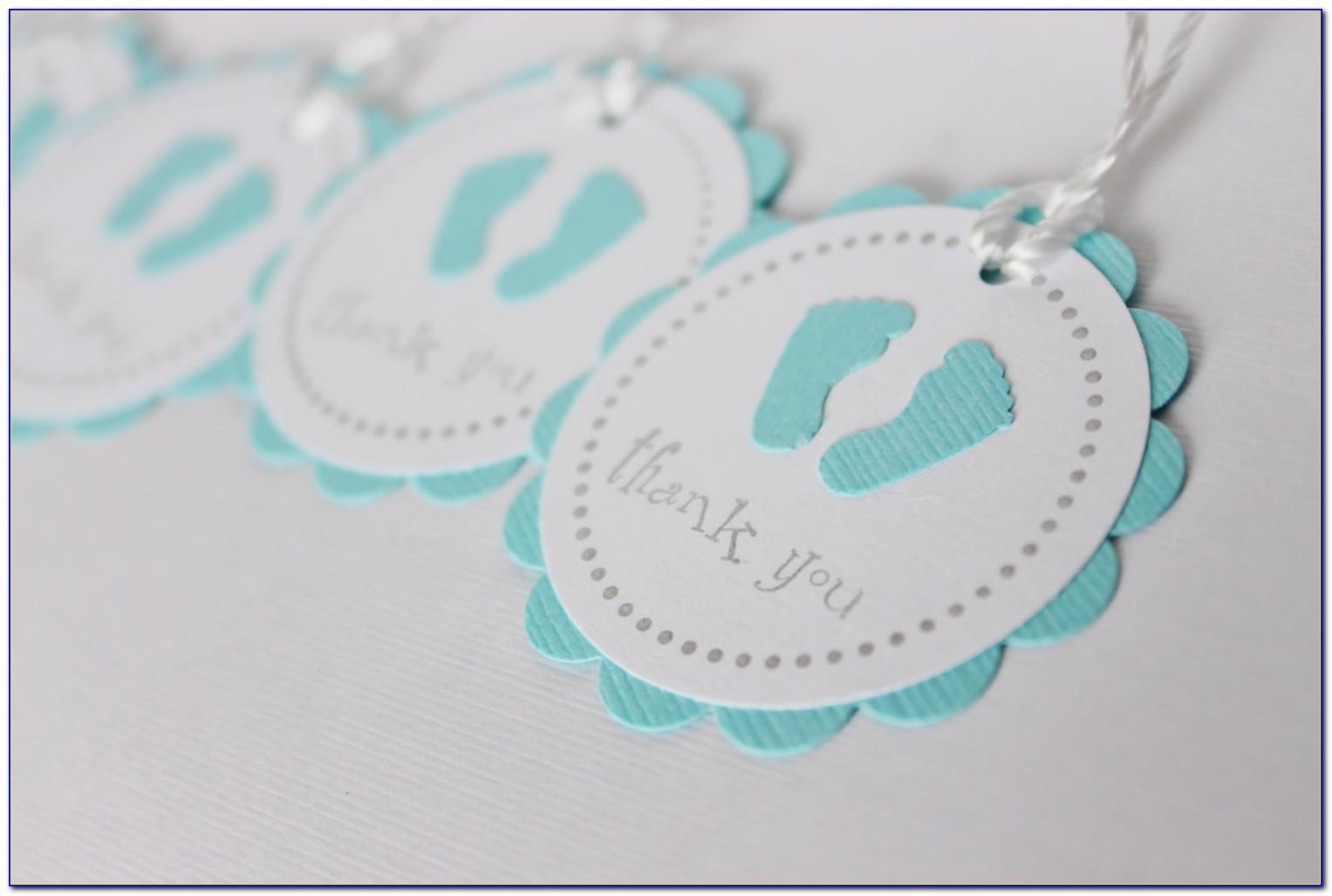 Baby Shower Party Favor Tags Template