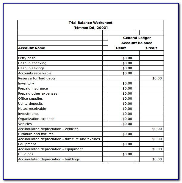 Balance Sheet Sample Excel Free Download