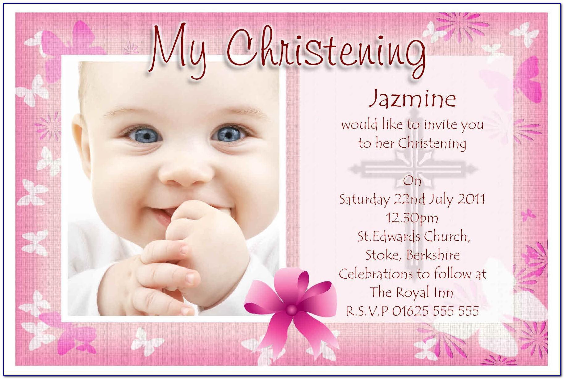 Baptism Invite Samples