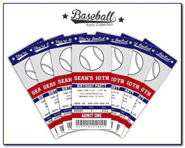 Baseball Ticket Template Free Word