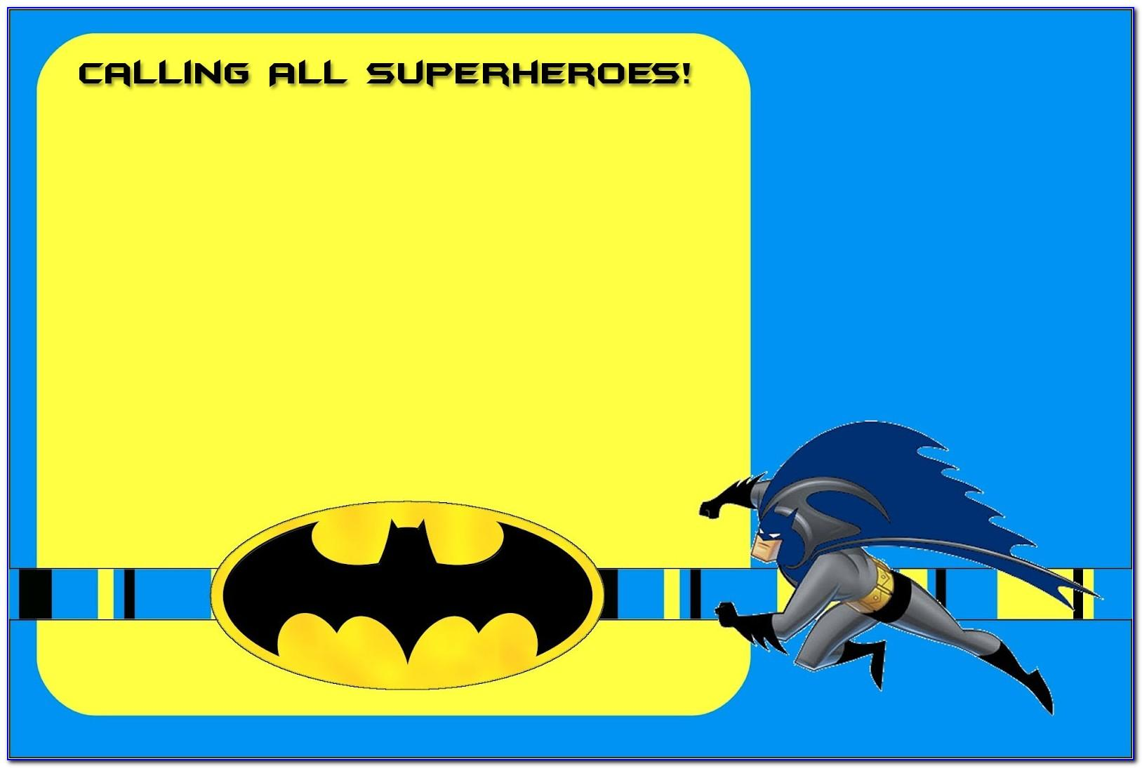 Batman Birthday Invite Template