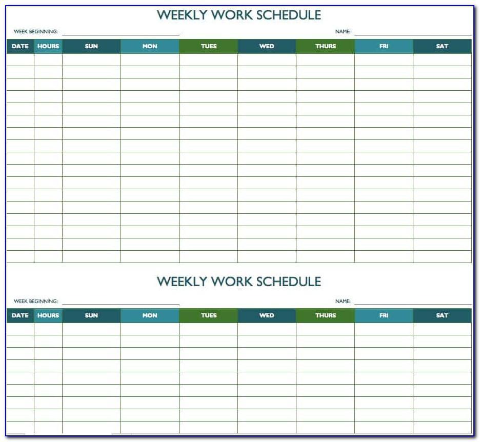 Bi Weekly Employee Schedule Template Excel