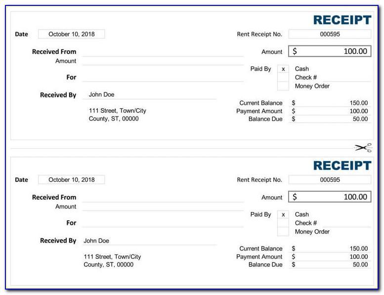 Bill Organizer Excel Template Free