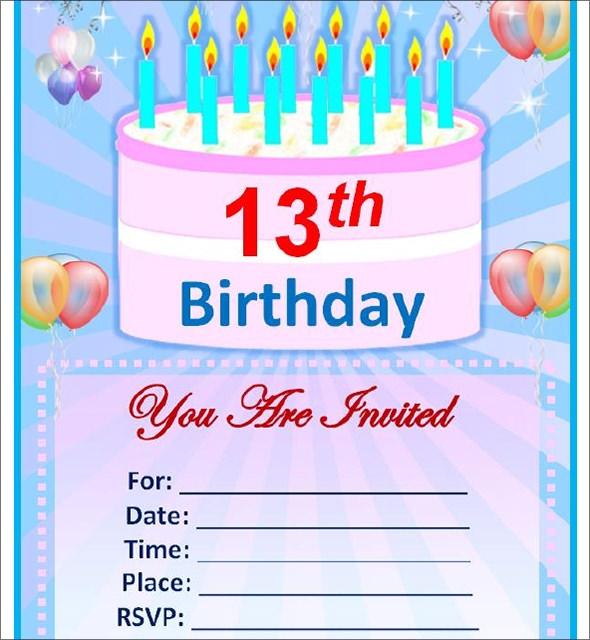 Birthday Invitation Card Editable Template