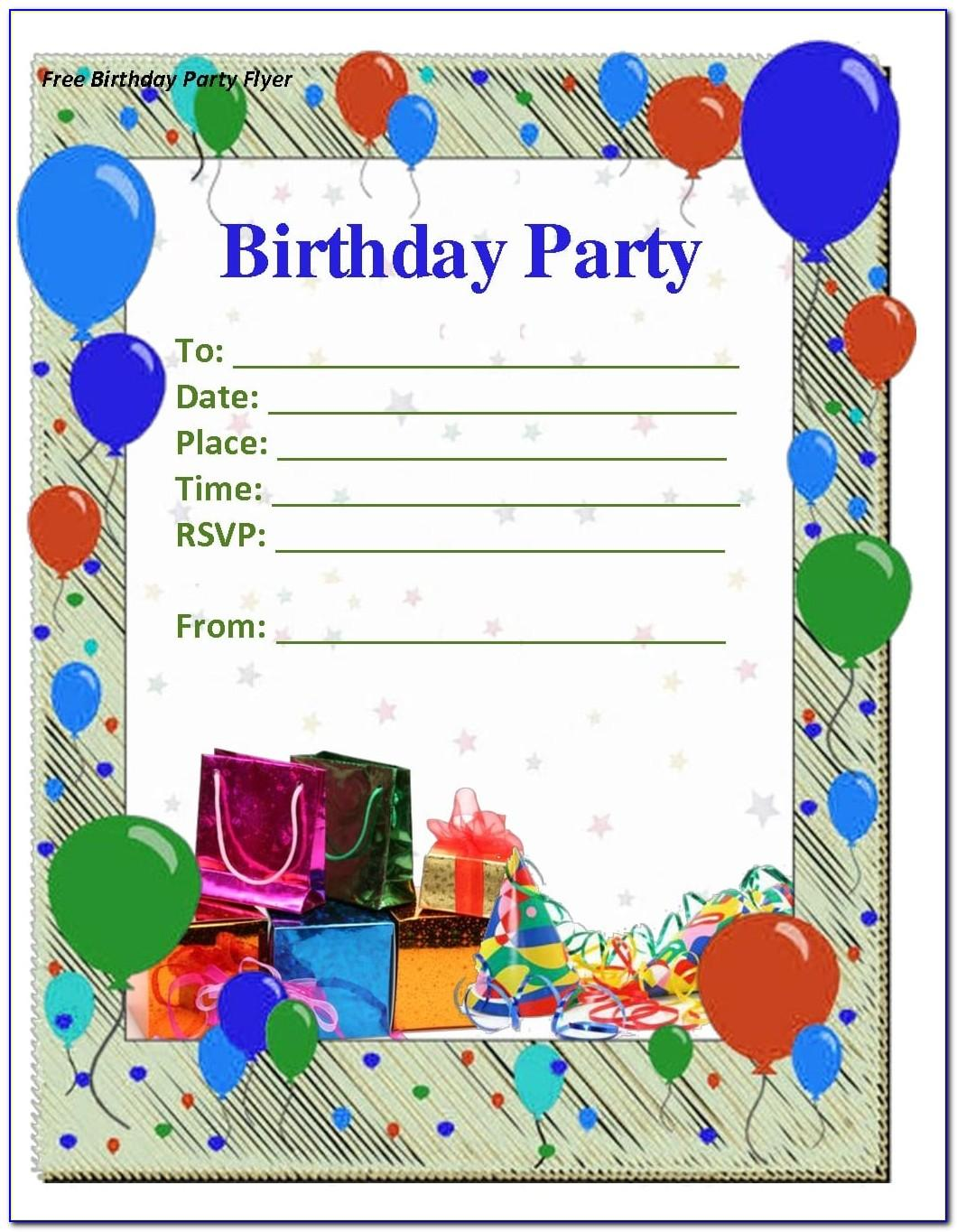 Birthday Party Invitation Template Free Download