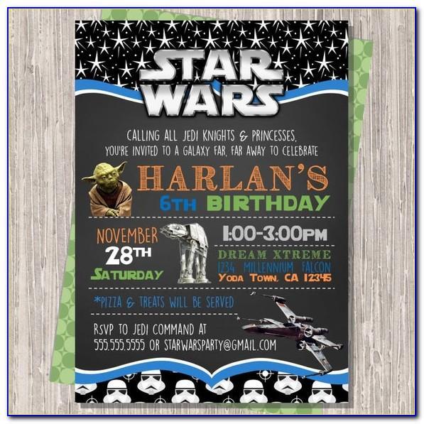 Birthday Party Invitation Template Star Wars