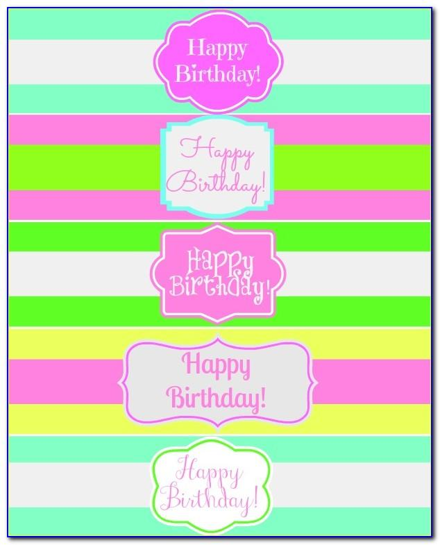 Birthday Water Bottle Labels Template Free