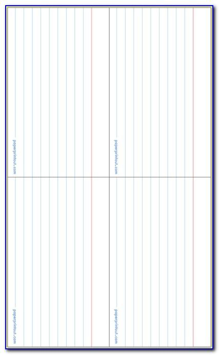 Blank Folded Note Card Template