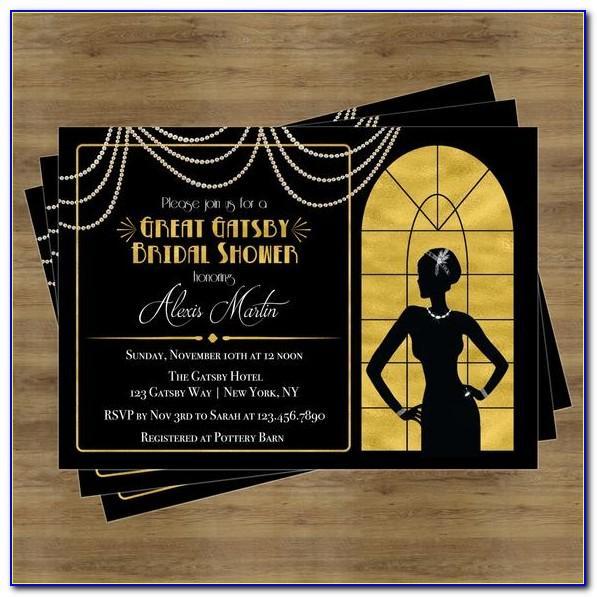 Blank Great Gatsby Invitation Template