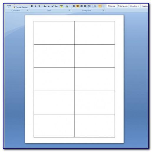 Blank Template For Business Card