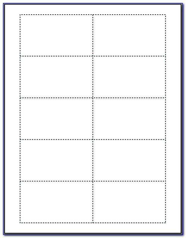 Blank Templates For Business Cards In Microsoft Word