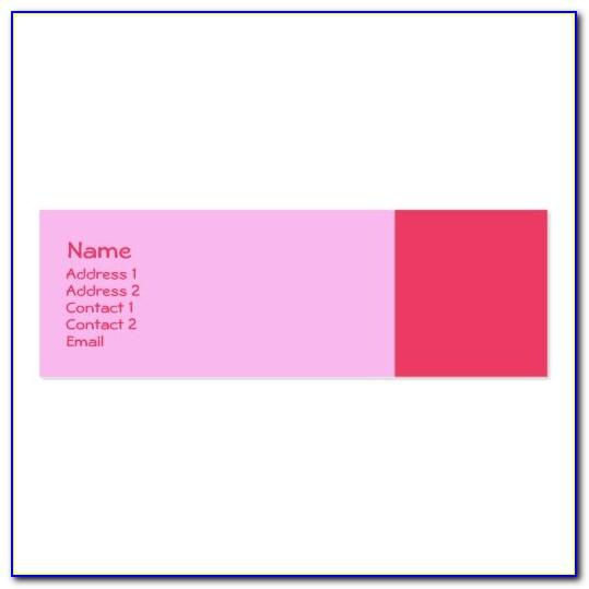 Blue Pink Business Card Template