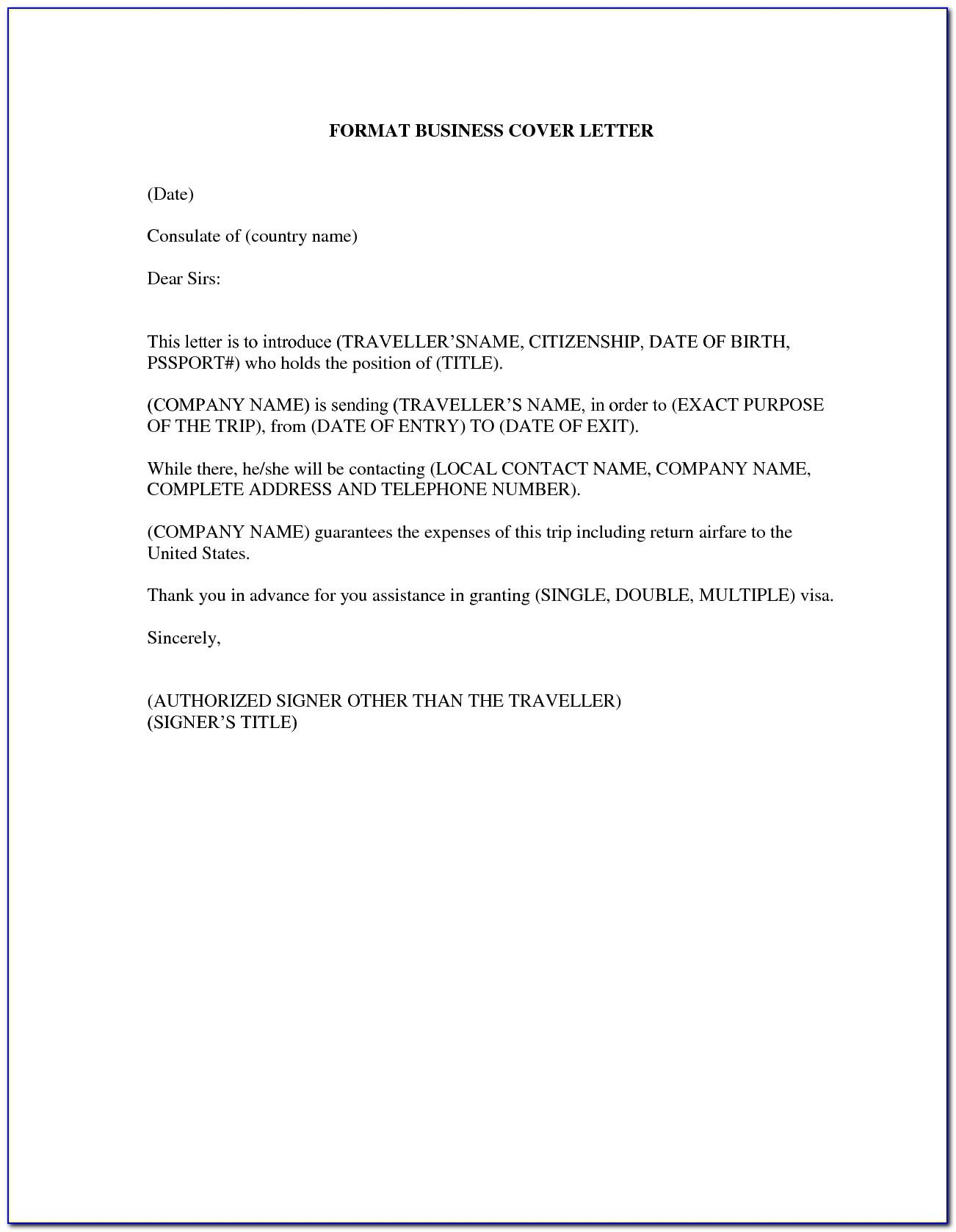 Business Plan Letter Template