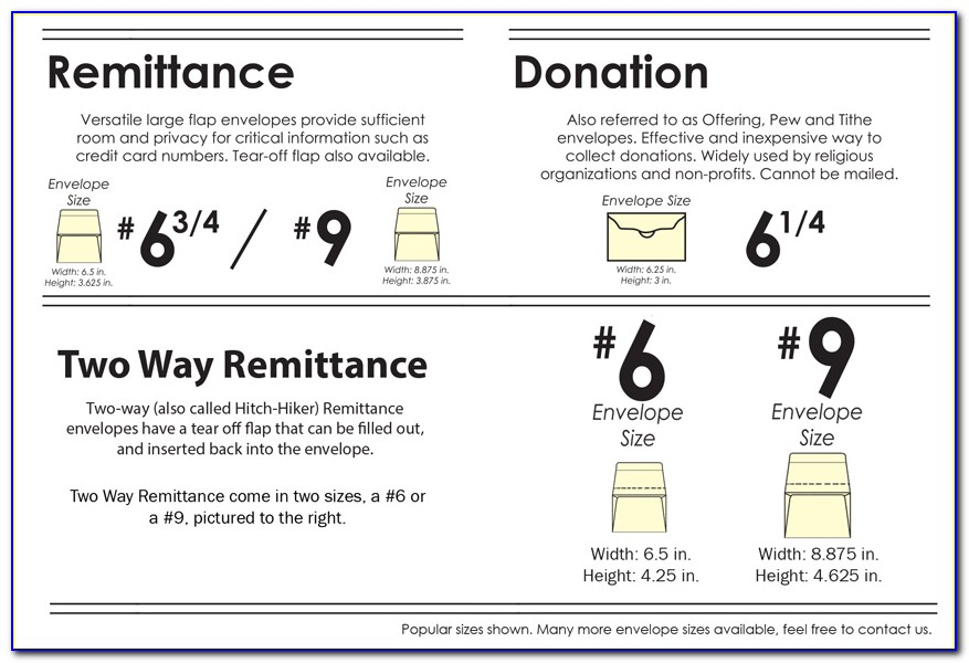Campaign Donation Envelope Template