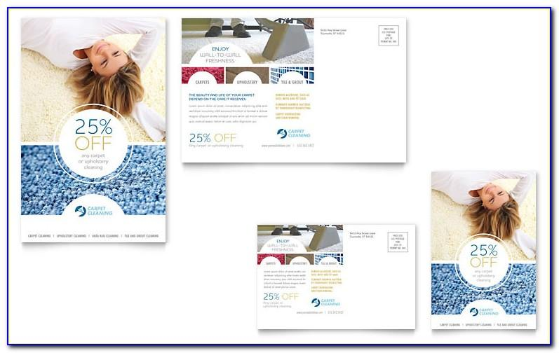 Carpet Cleaning Postcards Templates