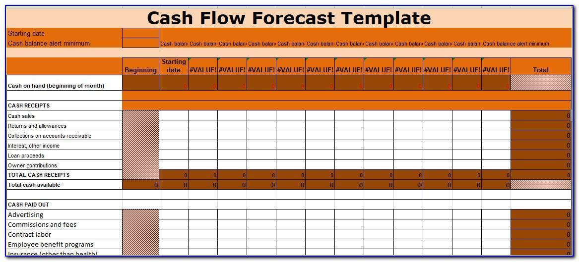 Cash Forecasting Template Excel