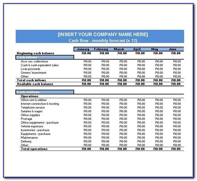 Cash Projection Template Excel