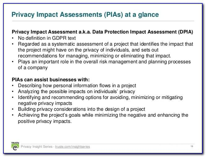 Cctv Privacy Impact Assessment Template Gdpr