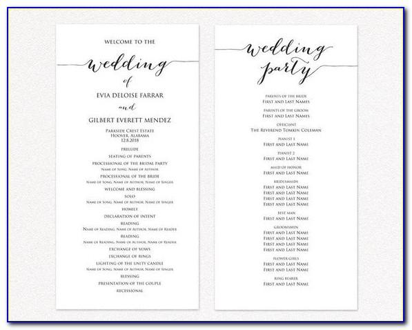 Ceremony Programs Templates Free